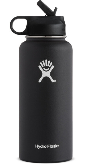 Hydro Flask Wide Mouth Straw Bottle 32oz (946ml) Black